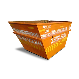 Caçamba aberta coleta e transporte de pequenos volumes de resíduos