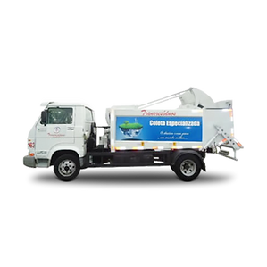 Caminhão Compactador especial par coleta de resíduos em áreas urbanas, com trânsito intenso ou restrições de tráfego