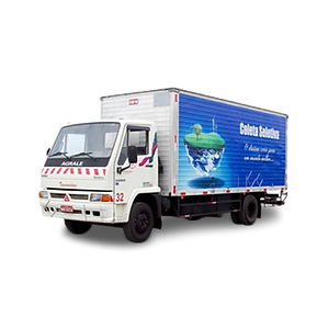 Caminhão Baú para coleta seletiva de resíduos