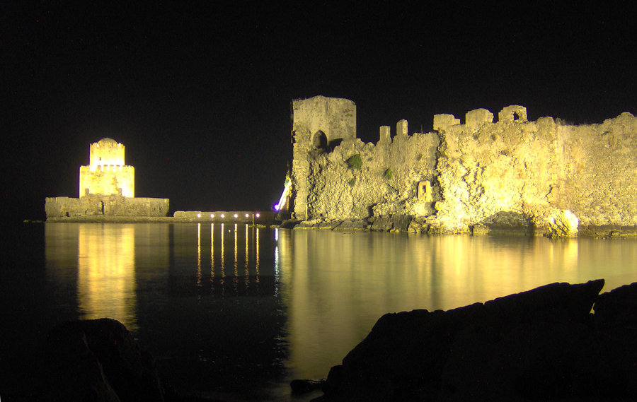 Methoni castle ruin