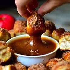 Cinnamon covered pretzel nuggets