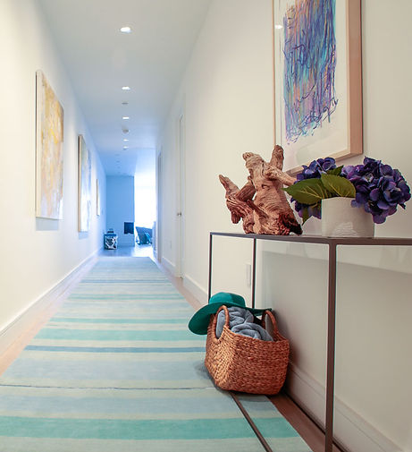Another Way Home  Striped hall runner. Designer area rugs that  re beautiful, versatile and customizable.