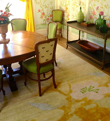 Another Way Home, Cherry Blossom, Sunshine rug.  Beautiul designer rugs cstomied for your exact style and space requirements.