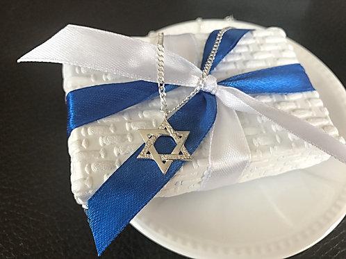 Srebrny łańcuszek z Gwiazdą Dawida próba 925