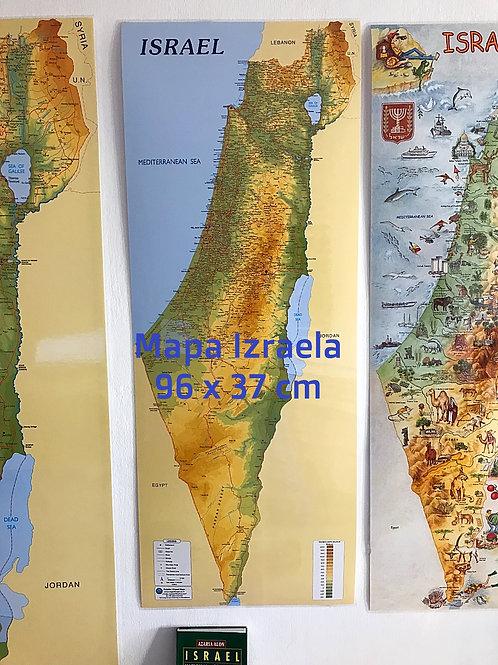 Mapa Izraela rozmiar M / 96 x 37  cm