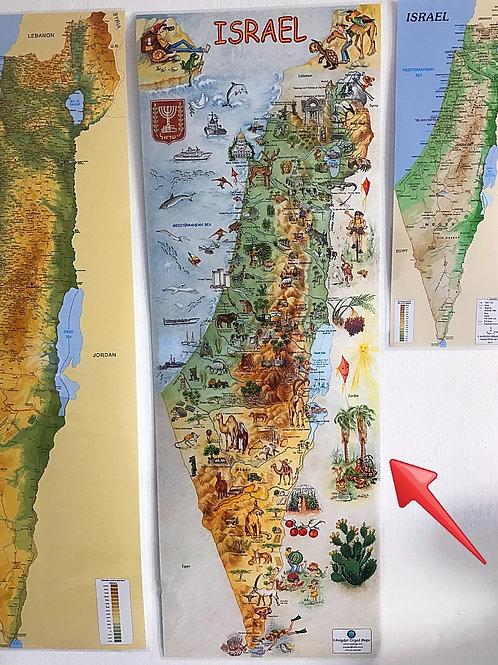 Ilustrowana mapa Izraela rozmiar M / 96 x 37  cm