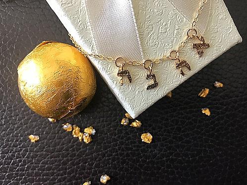 Łańcuszek złoty AHAVA Hebrajskie litery