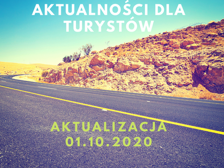Aktualności dla turystów i biur podróży -1.10.2020
