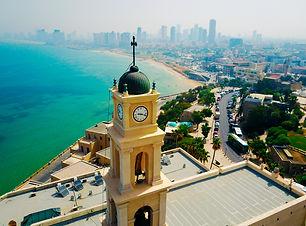 Bell tower, Jaffa, Tel Aviv, Israel, Aer
