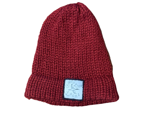 Red Hand Knit Winter Hat