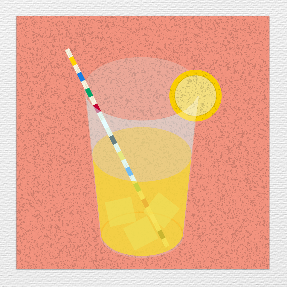 "Bethanie Irons, 'Lemonade', 2018, digital painting on paper, 12"" x 12"""