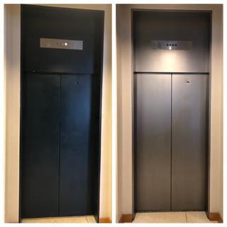 Painted Elevator Entrance