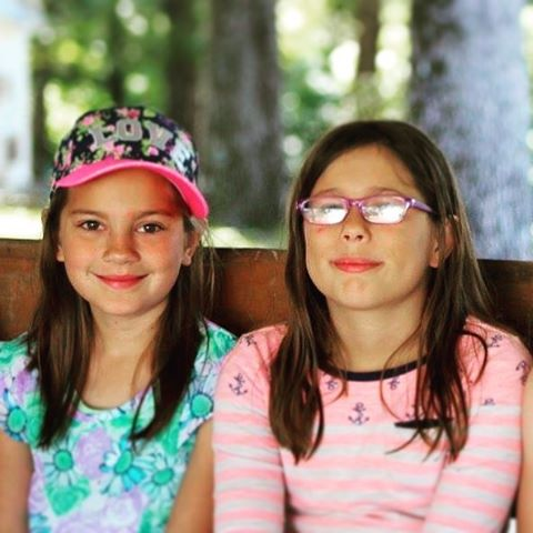 Two of the girls at camp