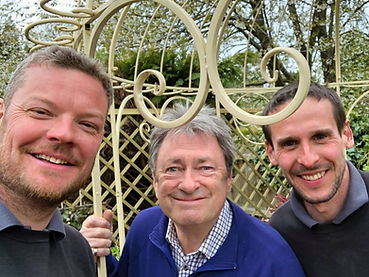 Alan Titchmarsh with Peter & James