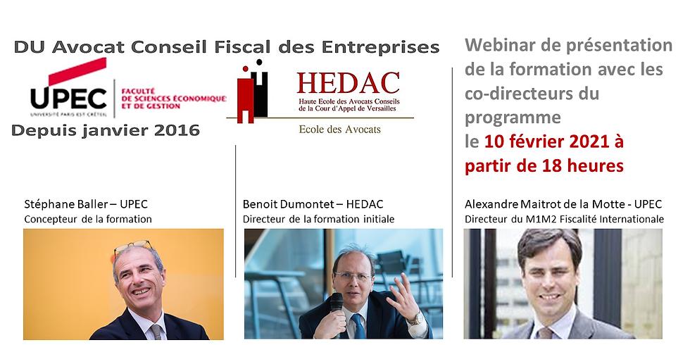 Tout savoir sur le Diplôme Universitaire Avocat Conseil Fiscal des Entreprises UPEC HEDAC