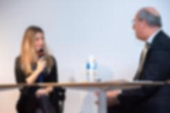 Virginie Delalande marraine de Droit comme un H! lors de la soirée d'automne 2018 avec les candidats