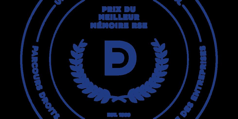 Prix du meilleur mémoire RSE - demi-finale