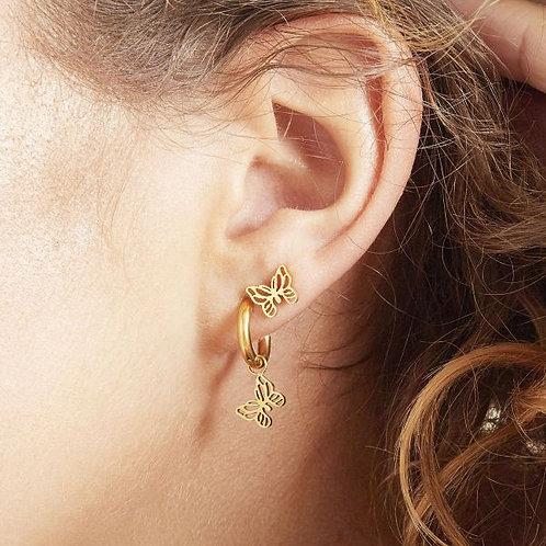 Earrings Floating Butterfly