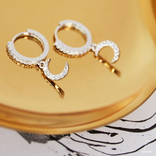 Earrings Sparkling Moon