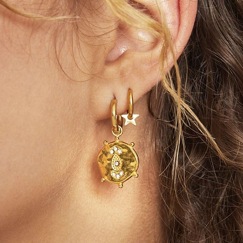 Earrings Funky Coin