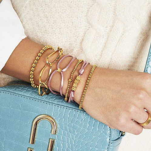 Bracelet Satin Cube Heart