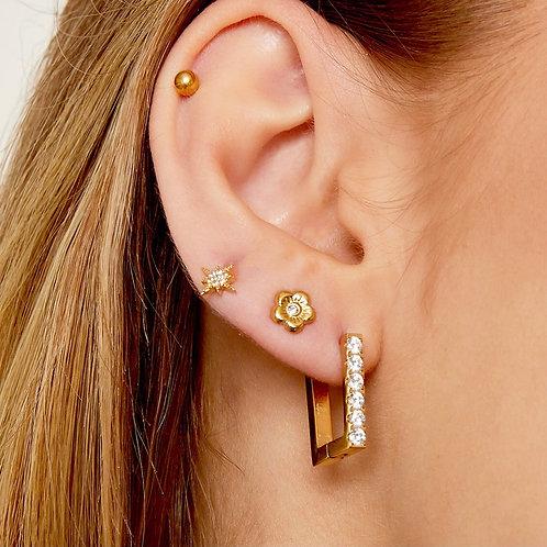 Earrings Diamond square large