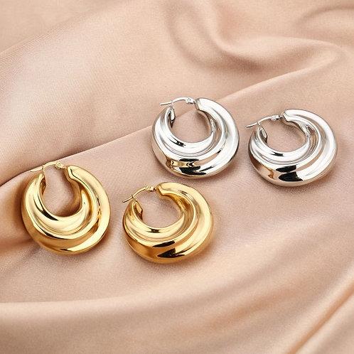 Earrings chunky hoop