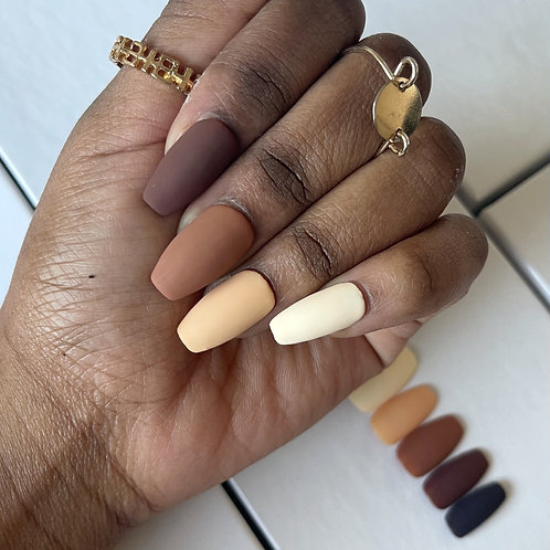 Gradient Browns and Cream