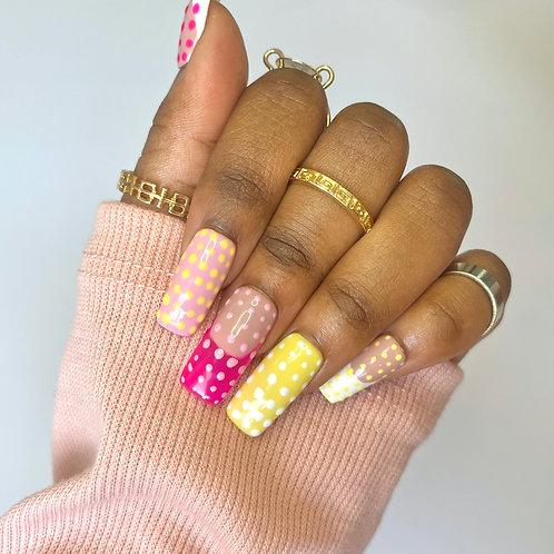 Poka Dot Abstract Nails