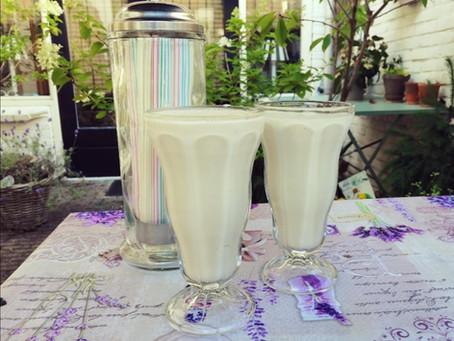 Milkshake, banaan, aardbei...lekker vers