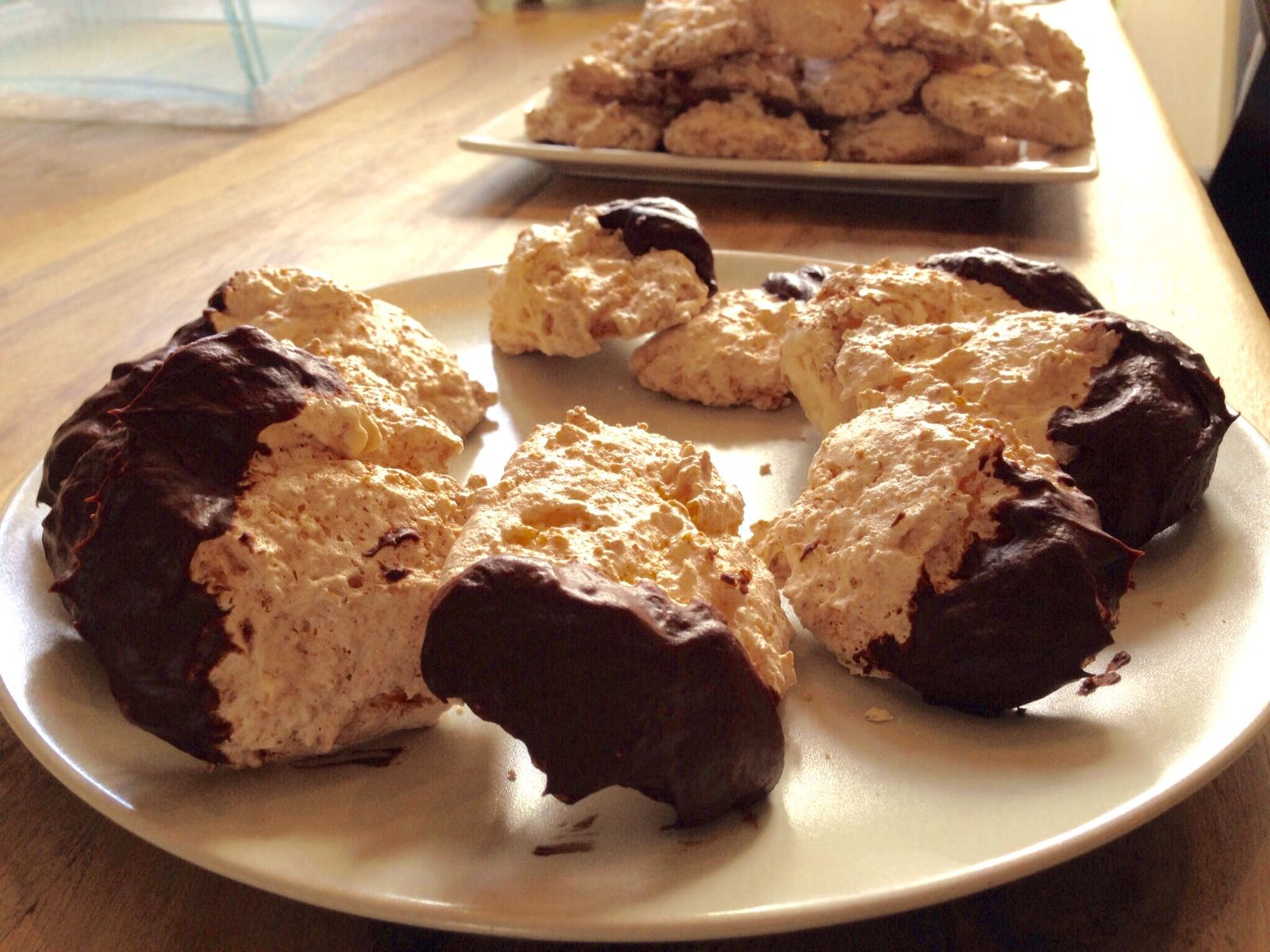 kokosmakroon met chocolade
