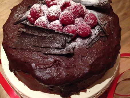 Frambozen Chocolade truffel taart....zonder gelatine.