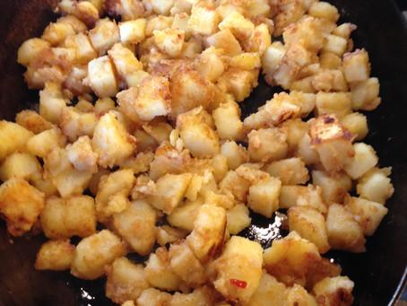 Mediterrane gekruide aardappeltjes