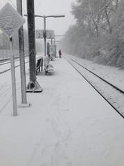 Eindelijk sneeuw!! Station Tiel 2017