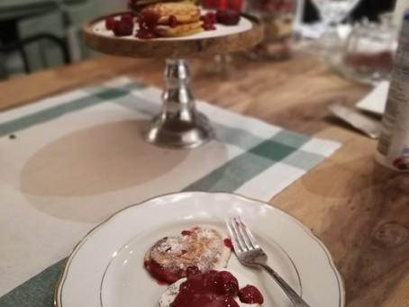 Valentijn pancake's & frambozen Coulis