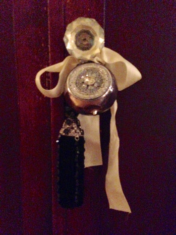 deurknop in kerstsfeer