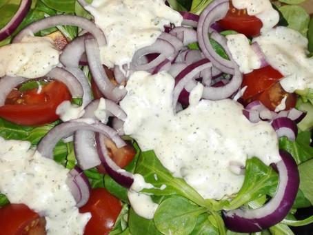 Veldsla salade met dragonsaus