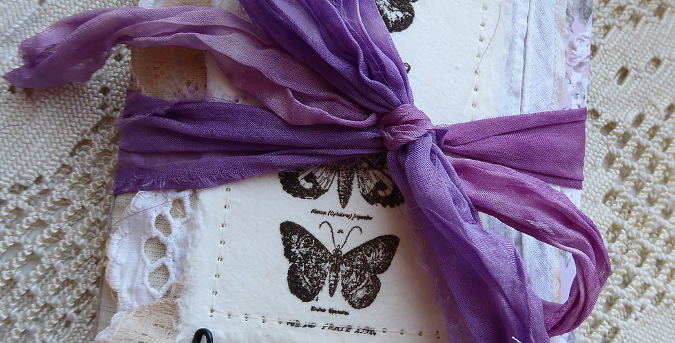 Lavender mini tri fold Journal