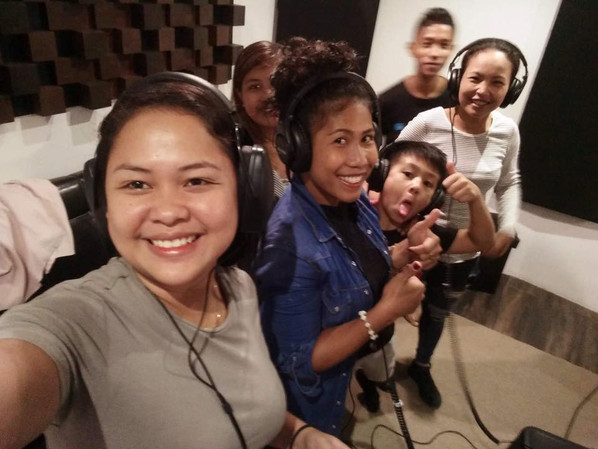 Recording backing vocals from Philippines!