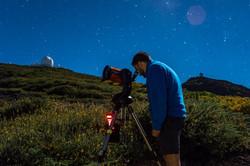 Observación junto a los telescopios
