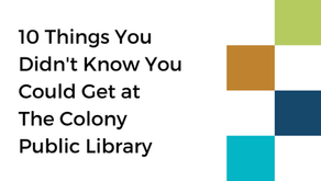10 things you didn't know about The Colony Public Library