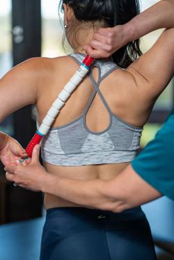 Sport stick shoulder