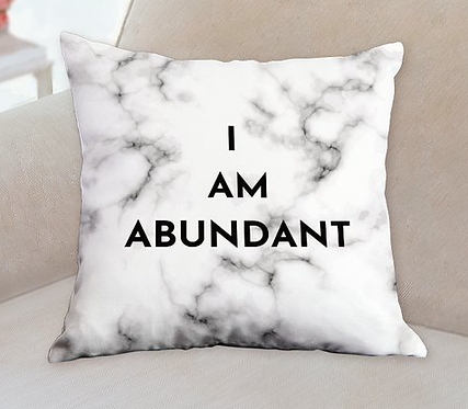 I Am Abundant Double Sided Pillow