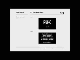 Ruck / Identité visuelle et élaboration d'une charte graphique pour Ruck, boxers rugby par Sébastien Chabal. 2017