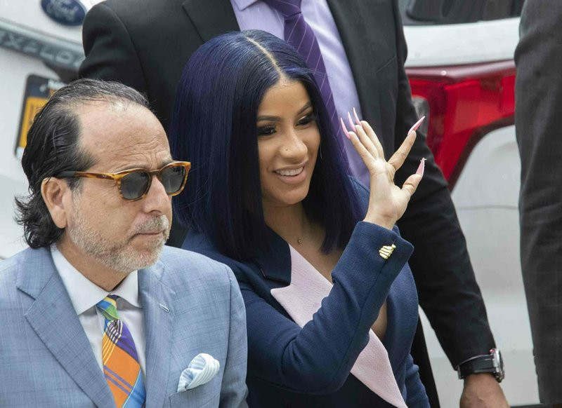Cardi B. walking into Queens Supreme Court on June 25, 2019 for arraignment on 2 felony assault charges.