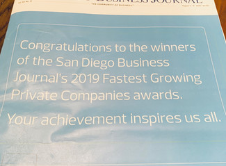 100 Fastest Growing Private Companies - San Diego Business Journal