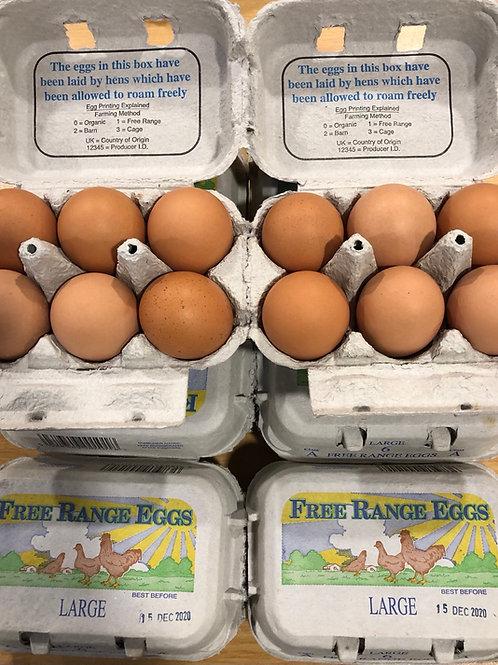 6 Large free range eggs 🥚
