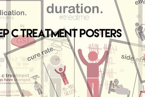 New Hepatitis C Treatment Posters (set of 6)
