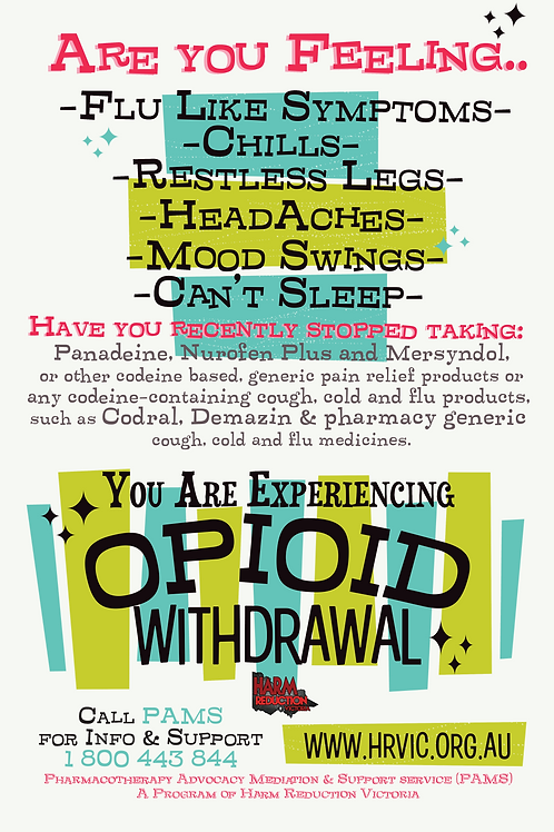 Opioid Withdrawal Effects Poster