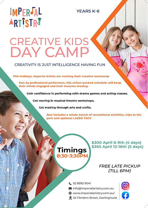 Creative Kids Day Camp